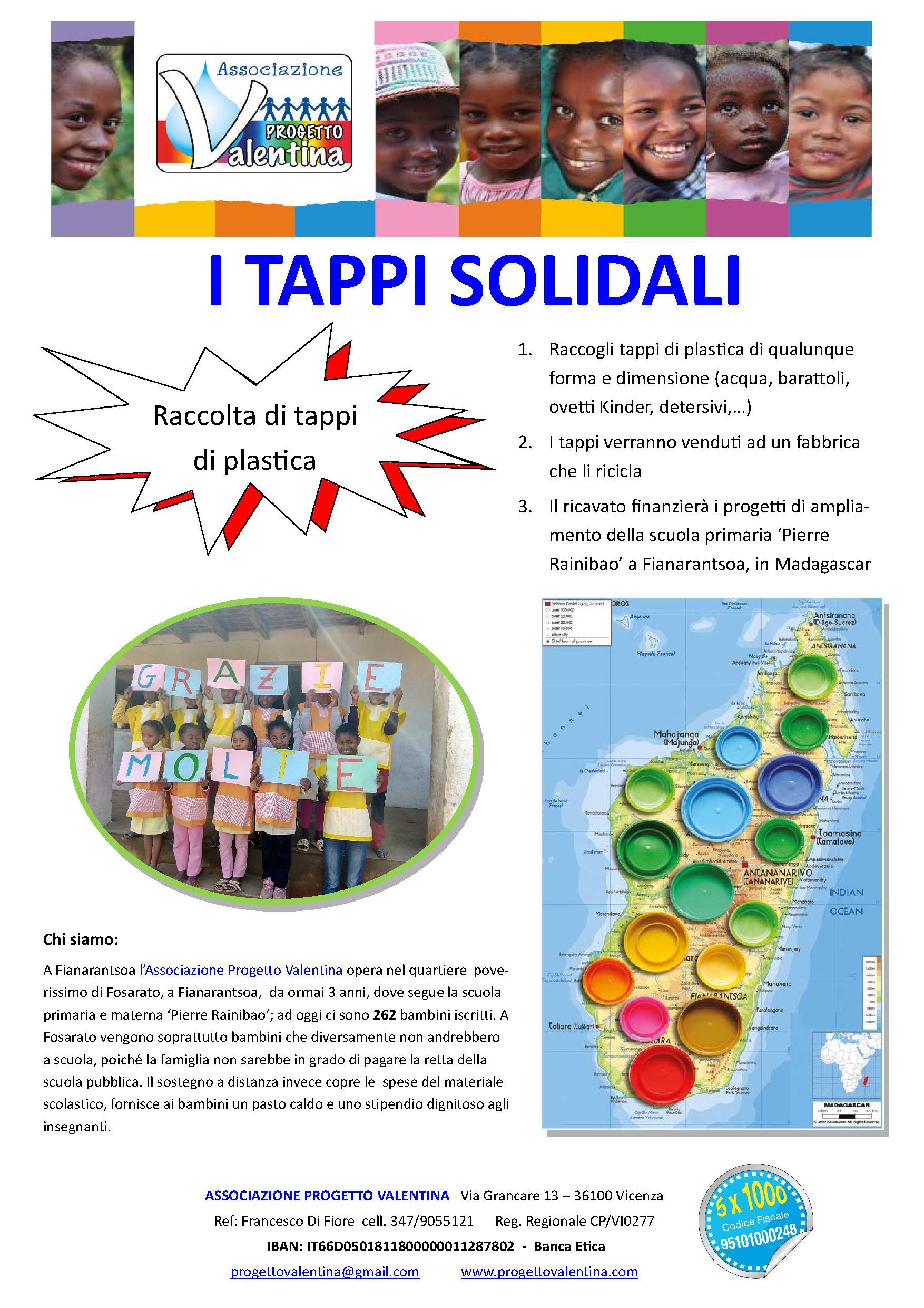 I Tappi Solidali - Raccolta di tappi di plastica