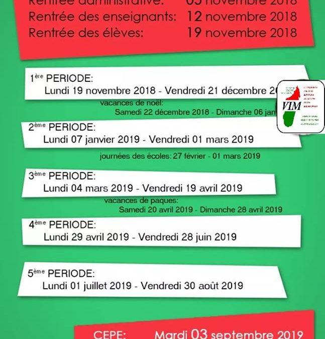Calendario Scolastico 2018-2019
